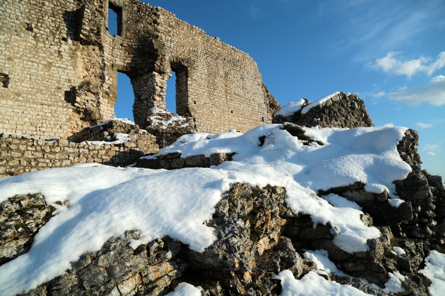 Crussol sous la neige
